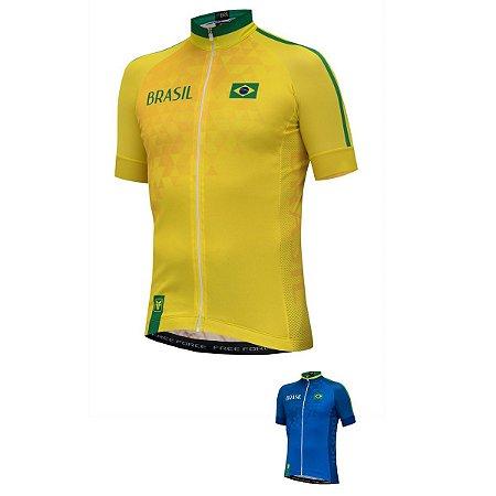 Camisa ciclismo Free Force Brasil 2018