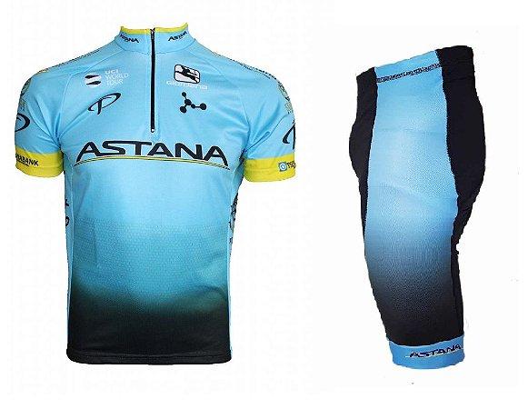 Conjunto ciclismo Astana 2018 Be Fast - Roupas para ciclismo - 4Bike ... 0cd06b202f