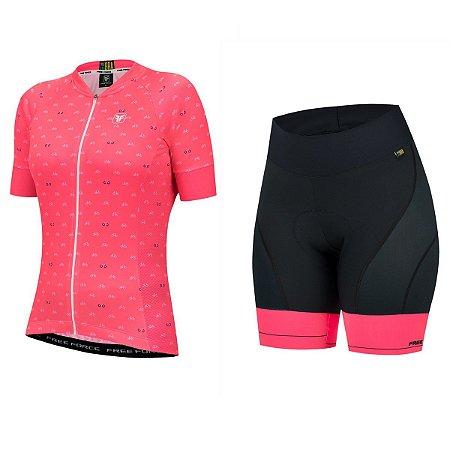 Conjunto ciclismo feminino Cycles Free Force