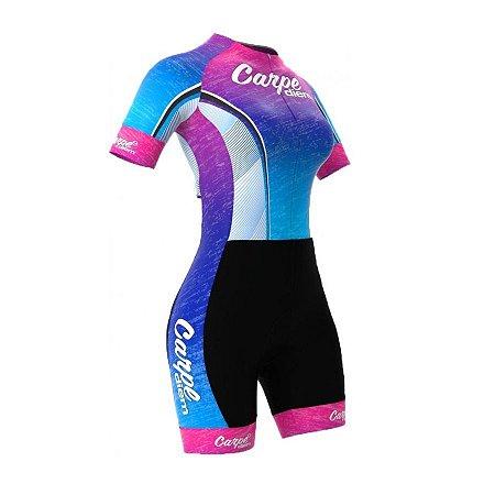 Macaquinho de ciclismo feminino ERT Carpe Diem