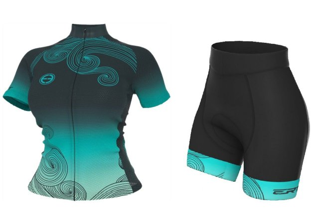 Conjunto ciclismo feminino ERT Ocean