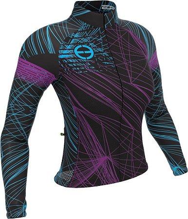 Camisa ciclismo feminina manga longa ERT Purple
