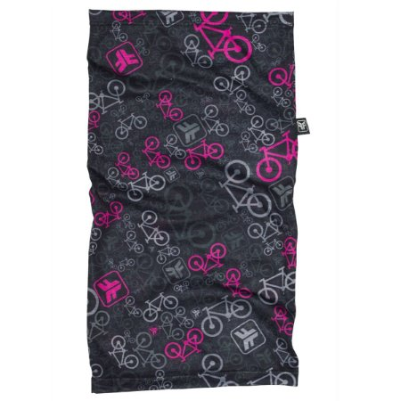 Bandana ciclismo multiuso Free Force Bicycle preto/rosa