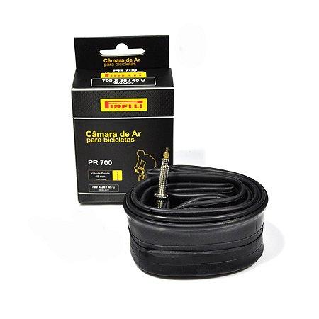 Câmara de ar Pirelli 700 x 28/45 válvula presta (bico fino) 48 mm
