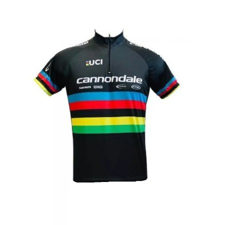 Camisa ciclismo Cannondale Campeão Mundial Be Fast preta