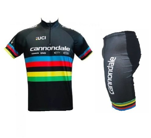Conjunto ciclismo Cannondale Campeão Mundial Be Fast preto