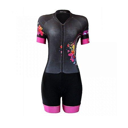 Macaquinho ciclismo feminino Be Fast Caveira Mexicana