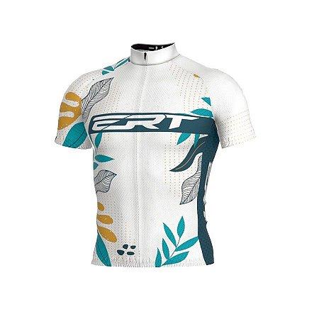 Camisa de ciclismo ERT Classic Floral branca