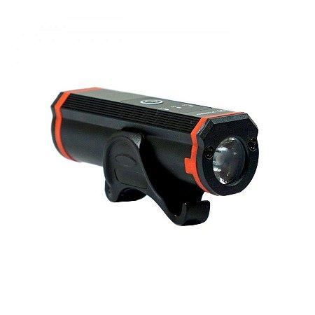 Farol para bike tsw 400 lumens recarregável USB