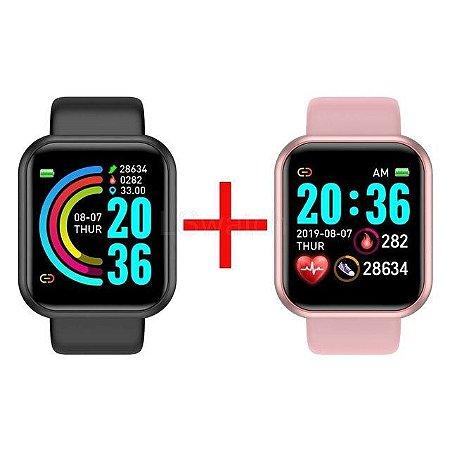 Compre 1 Relógio Smartwatch CF Y68 e Ganhe Outro