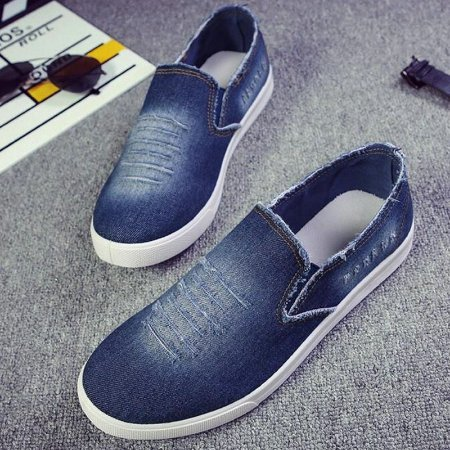 Sapatênis Mocassim Masculino Jeans Destroyed