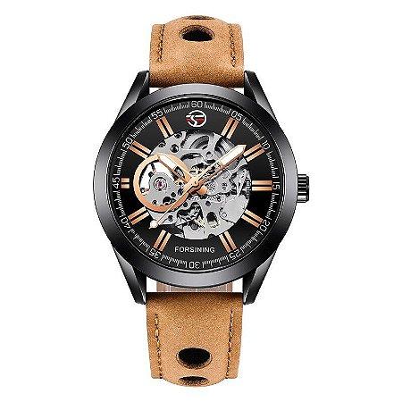Relógio Automático Masculino Forsining - Couro