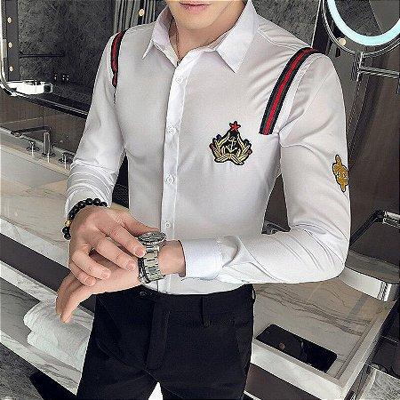 Camisa Social Slim Fit Masculina Mariner