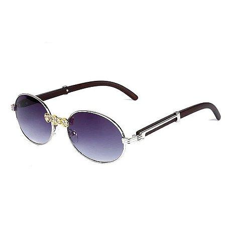 Óculos de Sol Redondo Cristal