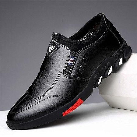 Sapato Mocassim em Couro Fashion Men 24H TMix
