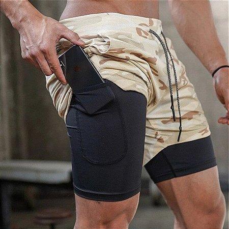 Shorts Masculino Para Exercícios com Bolso Interno