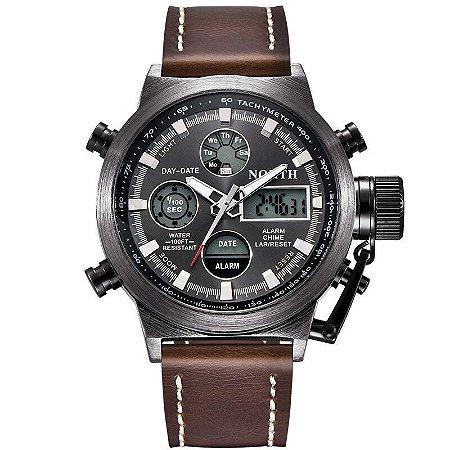 Relógio Masculino Digital North Militar - Pulseira em Couro