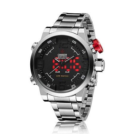 Relógio Masculino Digital e Analógico Army LED