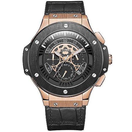 Relógio Masculino com Pulseira em Couro Army Leather