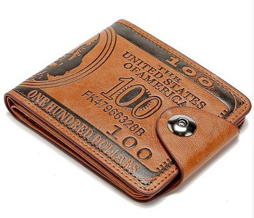 Carteira Masculina em Couro USA Dollar