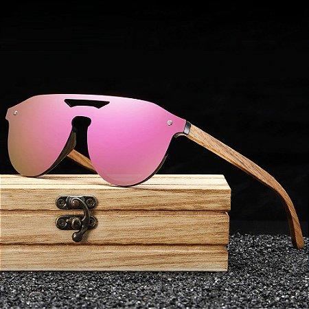 Óculos de Sol Polarizado com Armação em Madeira Ecológica s5030