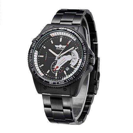 Relógio Automático Masculino Winner Black