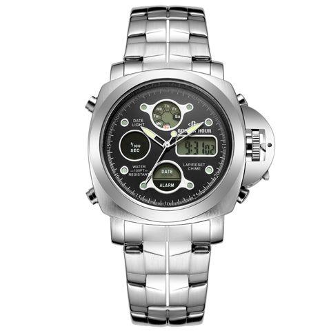 Relógio Digital Masculino Golden Hour Style