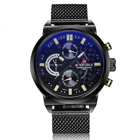 Relógio Masculino em Aço Naviforce Long Life