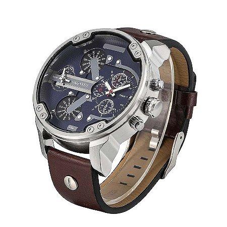 Relógio Masculino com Pulseira em Couro 6820