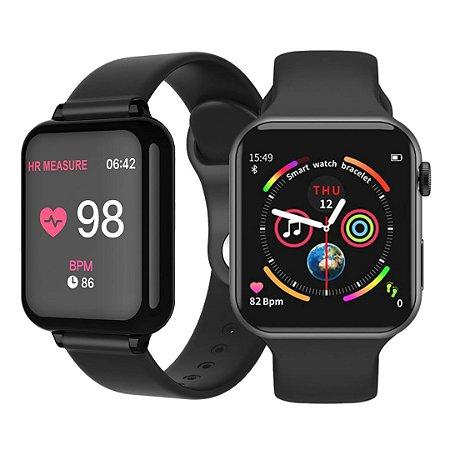 Kit com 2 Relógios Eletrônicos Smartwatches - F10 + Hero Band
