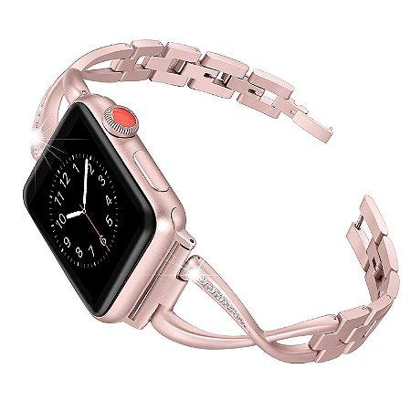 Pulseira em Aço Inox Para o Smartwatch Apple Watch