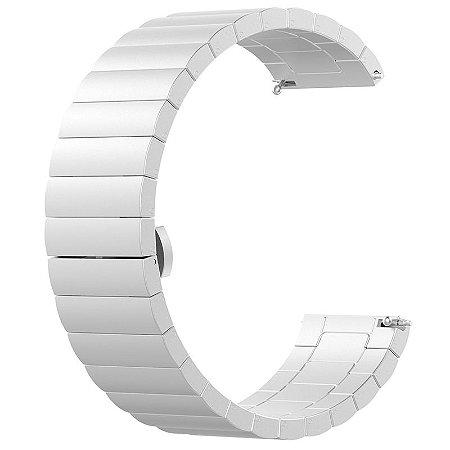 Pulseira em Aço Inox Para Relógios e Smartwatches - 22mm de Largura