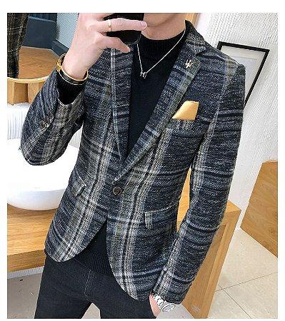 Blazer Xadrez Masculino Coreano - Super Elegante