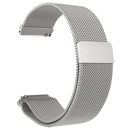 Pulseira em Aço Inox Para Relógios e Smartwatches - 16mm de largura
