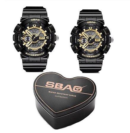 Kit com 2 Relógios estilo G-shock para Casal
