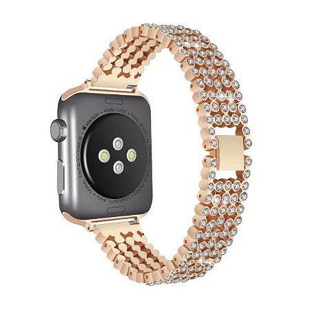 Pulseira Feminina para Apple Watch em Aço Inox - Todos os Tamanhos