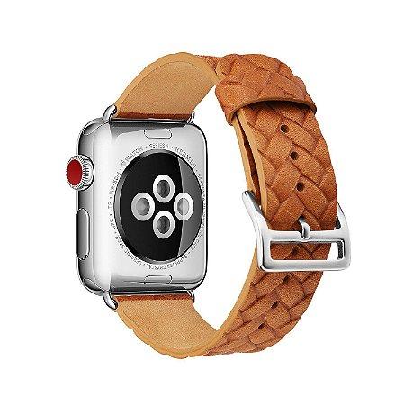 Pulseira em Couro para Apple Watch - Todos os Tamanhos