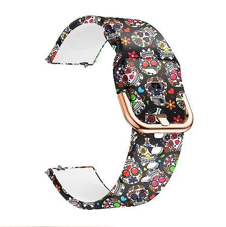 Pulseira de Silicone para Smartwatch Xiaomi / Samsung - 20mm de largura