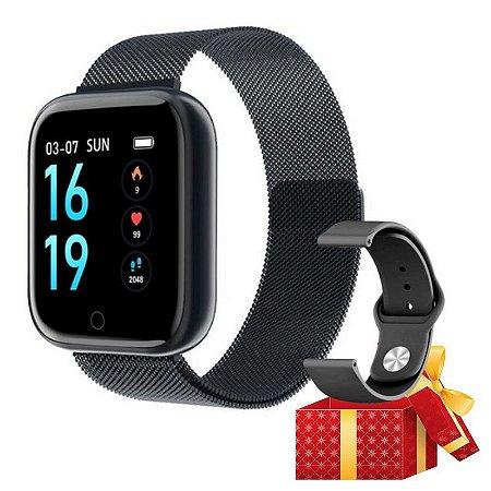 Relógio Eletrônico Smartwatch T80 + Brinde