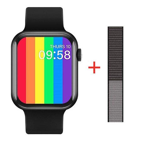 Relógio Eletrônico Smartwatch Iwo Max T500 43mm + Pulseira Extra