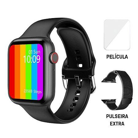 Relógio Eletrônico Smartwatch Iwo W46 - 44mm + Brindes