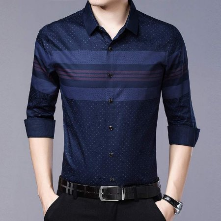 Camisa Social Masculina Slim Fit - Algodão