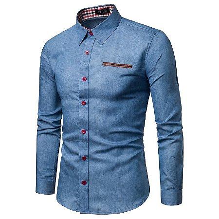 Camisa Masculina Slim Fit - 100% Algodão