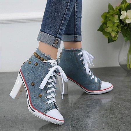Tênis Feminino Botinha Jeans Star