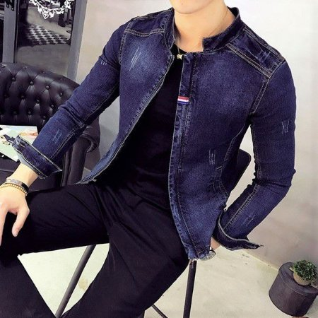 Jaqueta estilo Blazer Jeans Masculino Slim Fit TH