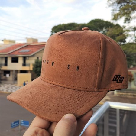 Boné Trucker Aba Curva Anth Co Joe - Caramelo