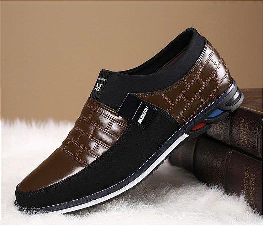 Sapato Mocassim em Couro Business Men 24H
