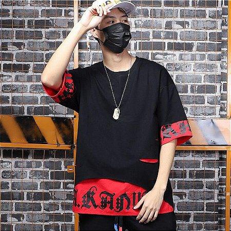 Camiseta Hip Hop StreetWear Harajuku