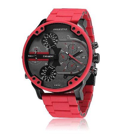 Relógio Masculino Dual Time Unique Style