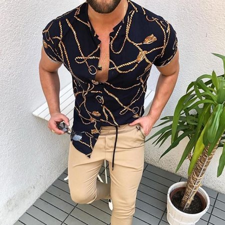 Camisa de Manga Curta Masculina Colorado